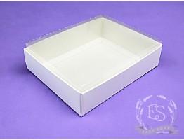 Коробка с прозрачным верхом 120*95*35 белая