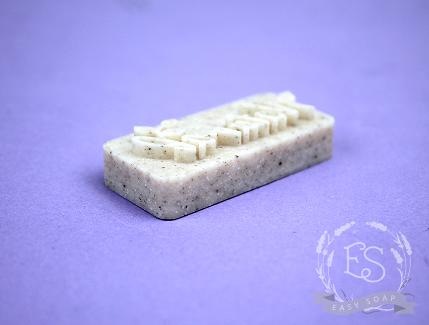 """Штамп для мыла с нуля """"Natural"""" с листиком"""