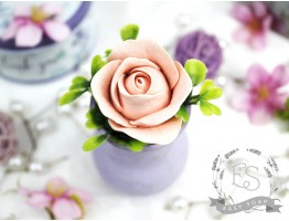 "Силиконовая форма для мыла ""Роза Фламинго бутон"" 3D"
