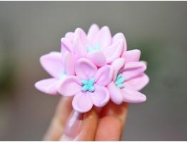 """Силиконовая форма для мыла """"Лантана"""" 6 цветков  3D"""