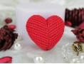 """Силиконовая форма для мыла """"Сердце вязанное"""" 3D"""