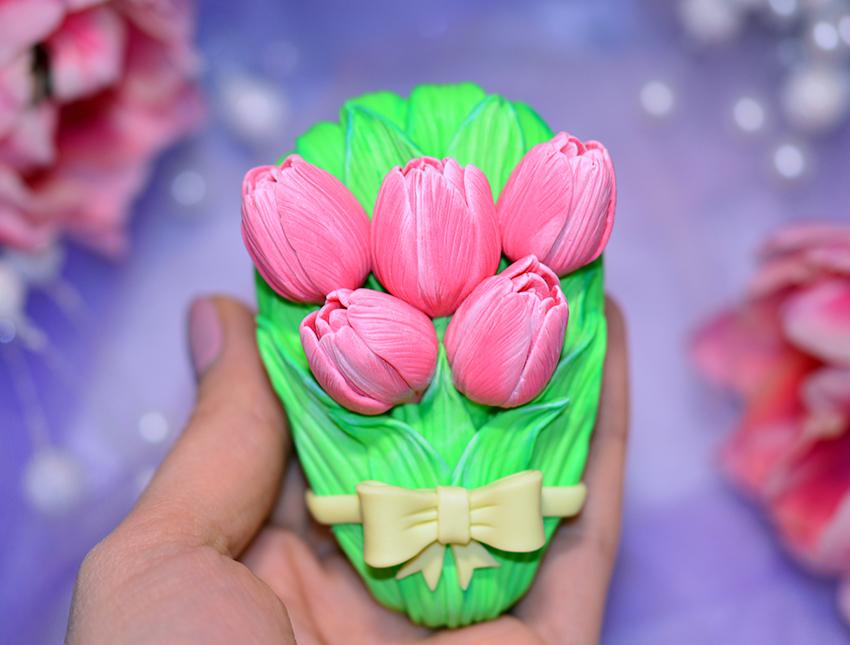 """Силиконовая форма для мыла """"Букет тюльпанов""""  3D"""