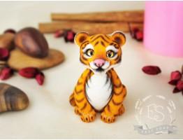 """Силиконовая форма для мыла """"Тигр сидит"""" 3D"""