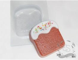 """Форма пластиковая для мыла """"Кулич плоский"""""""