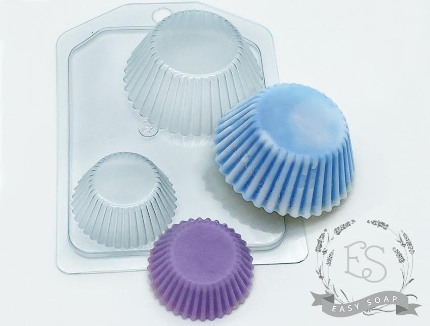 """Форма пластиковая для мыла """"Тарталетки ребристые"""""""