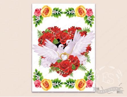 Картинка на водорастворимой бумаге №220007 - 7x5 см