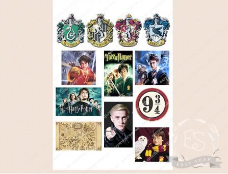 """Набор картинок на водорастворимой бумаге """"Гарри Поттер"""""""
