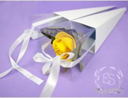 Коробка-конус для цветка белая