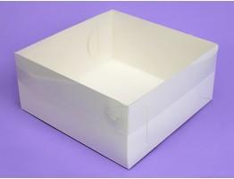 Коробка с прозрачным верхом 170*170*80 белая