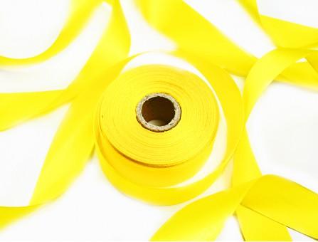 Лента атласная желтый 25 мм
