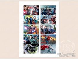 "Набор картинок на водорастворимой бумаге ""Герои Марвел"" 8,0х5,0"