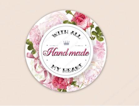 "Набор наклеек ""Hand Made - Розы"" 24 шт."