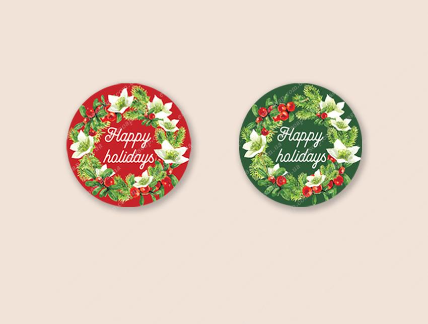 "Набор наклеек ""Happy holidays"" (англ.) 24 шт."