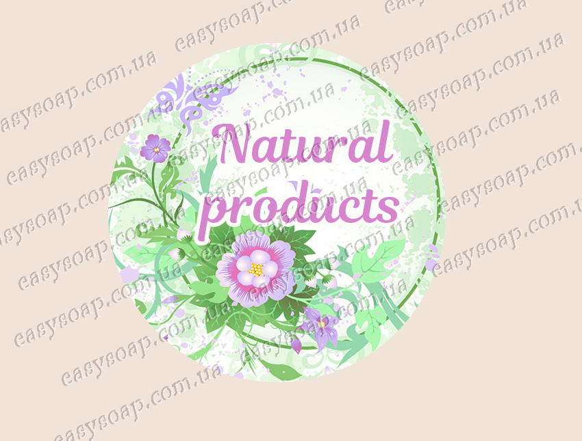 """Набор наклеек """"Natural products"""" 24 шт."""