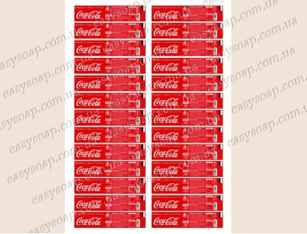 """Набор этикеток на самоклейке для 3Д мыла """"Coca Cola"""""""