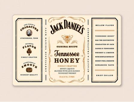 """Набор этикеток на самоклейке для 3Д мыла """"Бутылка виски Джек Дэниэлс Honey"""""""