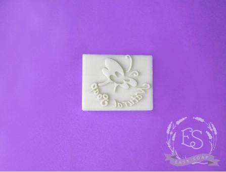 """Штамп для мыла с нуля """"Natural soap"""" бабочка"""