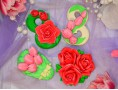 """Силиконовая форма для мыла """"Букет из трех роз""""  3D"""