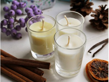 Ароматизированные свечи из натурального соевого воска