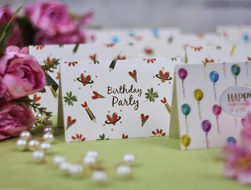 """Открытка-мини """"Happy birthday"""" ассорти №2"""