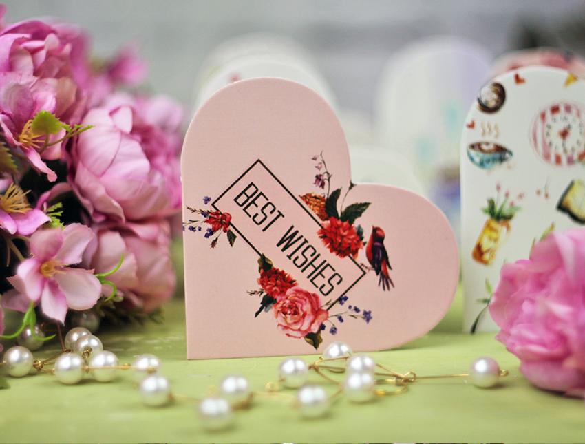 Открытка-мини сердце ассорти №9