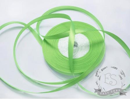 Лента атласная зеленый светлый 6мм