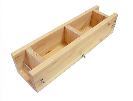 Деревянная форма для мыла на 2 кг из сосны