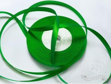 Лента атласная зеленый 6 мм