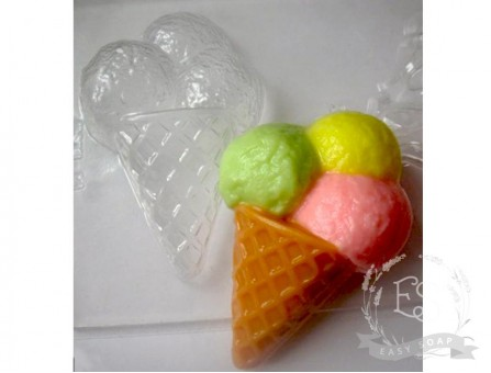 "Форма пластиковая для мыла ""Мороженое ""Три шарика"""