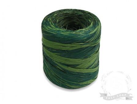 Лента рафия темно-зеленый /светло-зеленый