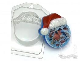 """Форма пластиковая для мыла """"Круг в новогодней шапке"""""""