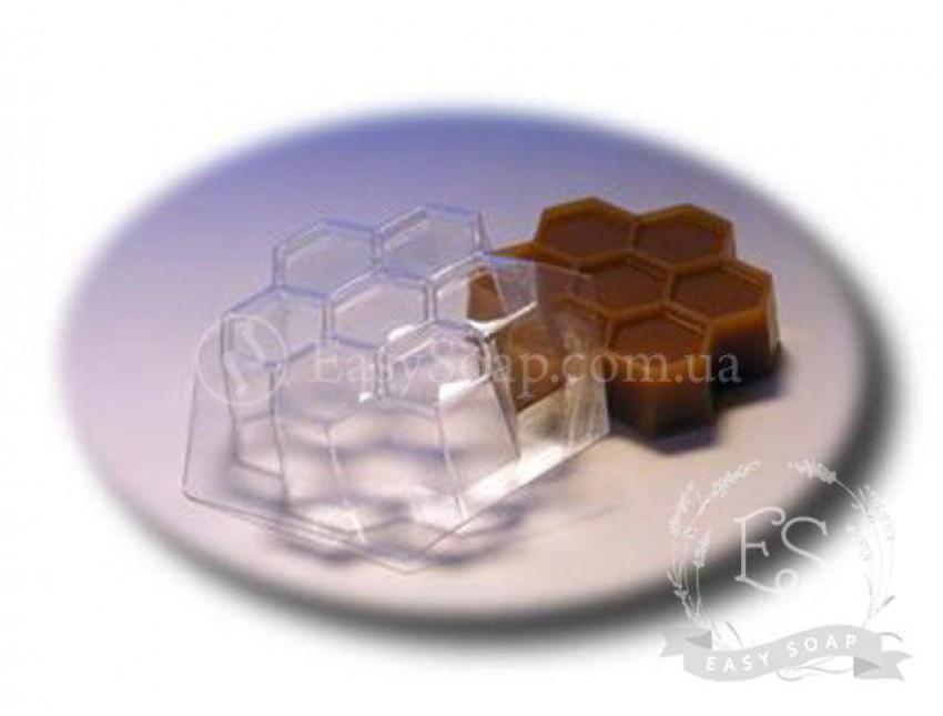 """Форма пластиковая для мыла """"Пчелиные соты"""""""