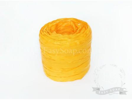 Лента рафия оранжевая