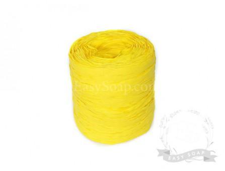Лента рафия желтая