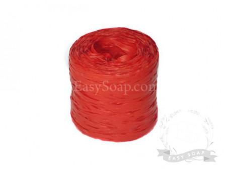 Лента рафия красная