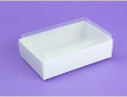Коробка с прозрачным верхом 95*60*30 белый