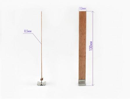 Деревянный фитиль с держателем 13*130 мм