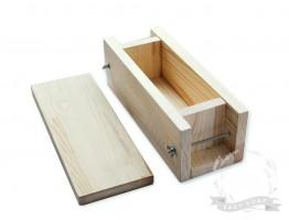 Деревянная форма для мыла на 1 кг из сосны с крышкой