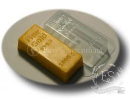 """Форма пластиковая для мыла """"Слиток золота"""""""