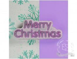 "Форма пластиковая для мыла ""Merry Christmas"" (слово)"