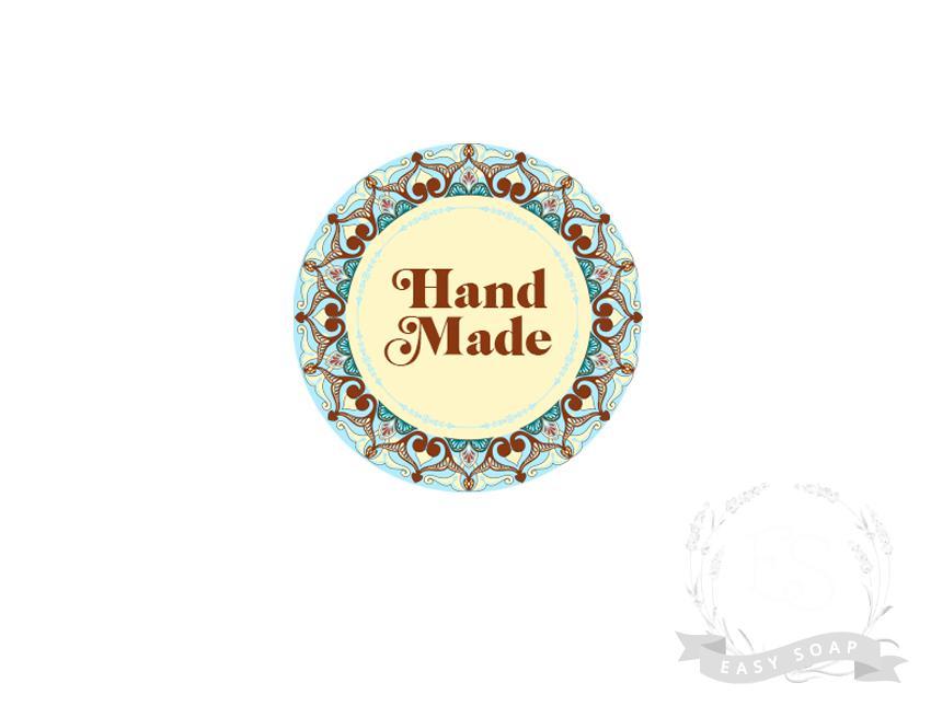 "Стикер ""Hand made"" бохо"