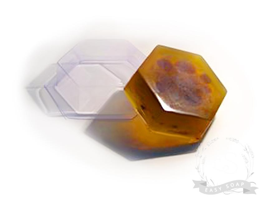 """Форма пластиковая для мыла """"Шестиугольник"""""""