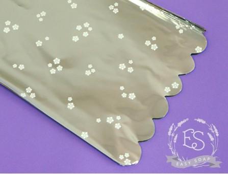 Пакет упаковочный с подложкой 15*28 см (серебро)