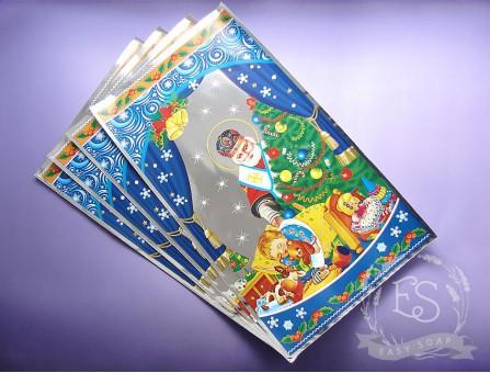"""Пакет упаковочный """"Новогодний"""" с подложкой 20*35 см"""