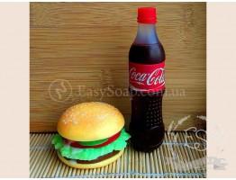 """Силиконовая форма для мыла """"Бутылочка Coca - cola - 12 см"""" 3D"""