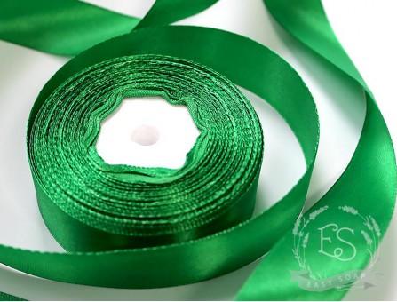 Лента атласная зеленая 25 мм