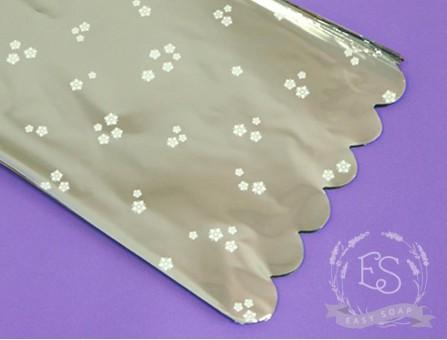 Пакет упаковочный с подложкой 20*30 см (серебро)
