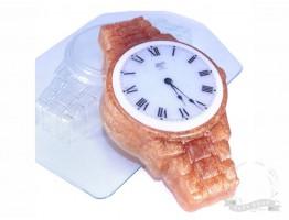 """Форма пластиковая для мыла """"Часы наручные"""" металлический браслет"""