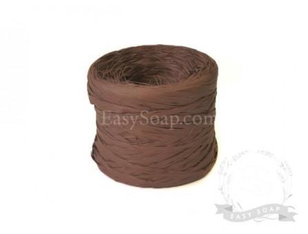Лента рафия темно-коричневая