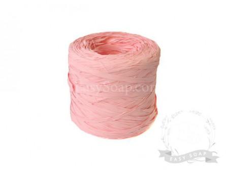 Лента рафия светло-розовая